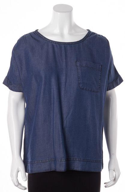 MARC BY MARC JACOBS Blue Denim Short Sleeve Blouse Top