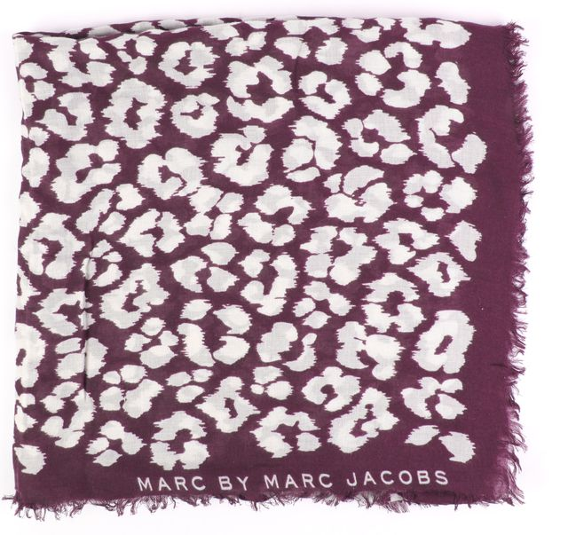 MARC BY MARC JACOBS Multi-color Animal Print Scarf