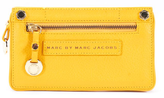 MARC BY MARC JACOBS Gotham Leather Open Face Wallet Rustic Yellow