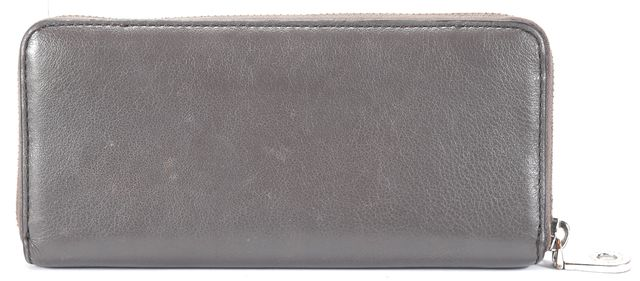MARC BY MARC JACOBS Gray Chrome tone Branded Front Leather Work Wear Wallet
