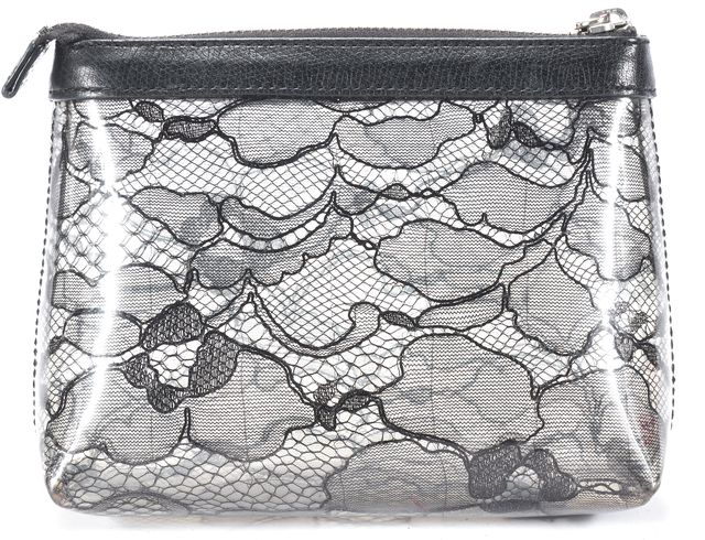 MARC BY MARC JACOBS Black Floral Cosmetic Bag Wallet