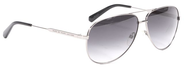 MARC BY MARC JACOBS Silver Round Aviator Sunglasses
