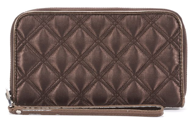 MARC BY MARC JACOBS Brown Leather Zip Up Quilted Wallet