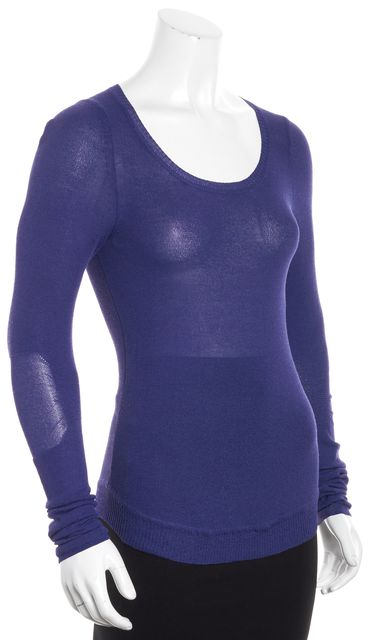 MARC BY MARC JACOBS Purple-Blue Thin Scoop Neck Sweater