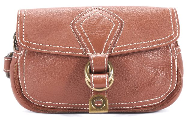 MARC BY MARC JACOBS Brown Leather Clutch Handbag