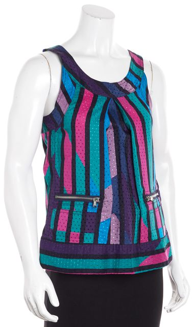 MARC BY MARC JACOBS Multi-color Sleeveless Abstract Tank Top