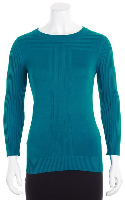 MARC BY MARC JACOBS Turquoise Thin Knit Crewneck Sweater