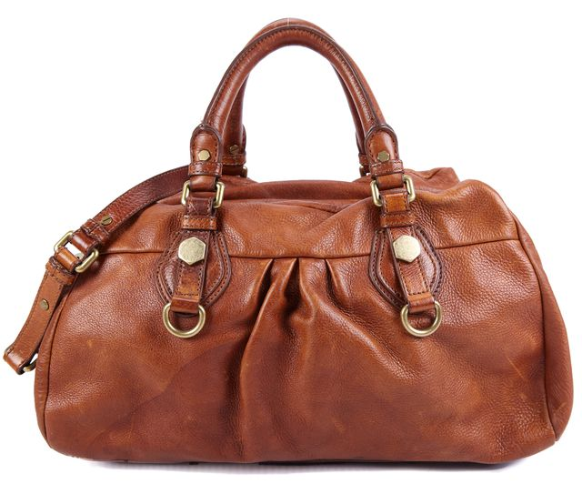 MARC BY MARC JACOBS Brown Gold Tone Hardware Leather Top Handle Bags