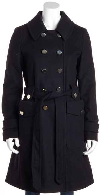 MARC BY MARC JACOBS Black Wool Blend Peacoat