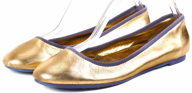 MARC BY MARC JACOBS Gold Leather Metallic Flats