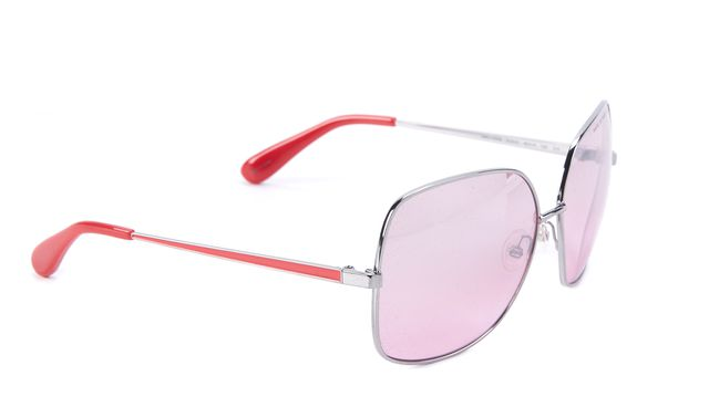 MARC BY MARC JACOBS Red Silver Square Sunglasses