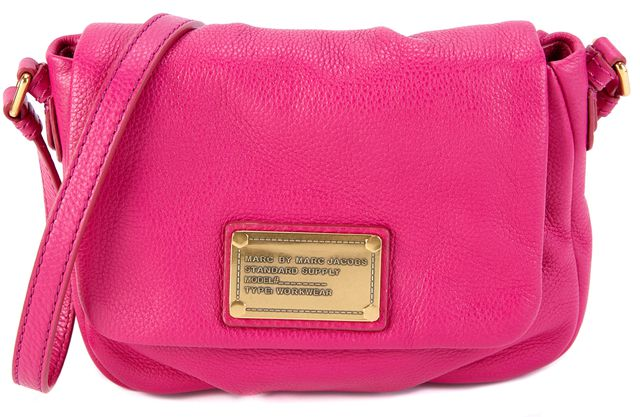 MARC BY MARC JACOBS Hot Pink Leather Mini Crossbody