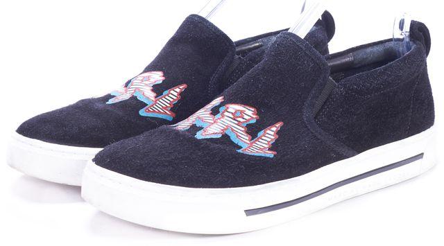 MARC BY MARC JACOBS Black Suede GRRL Slip-on Sneakers