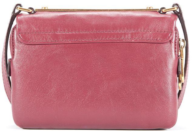 MARC BY MARC JACOBS Garnet Red Leather Flap Over Crossbody Handbag