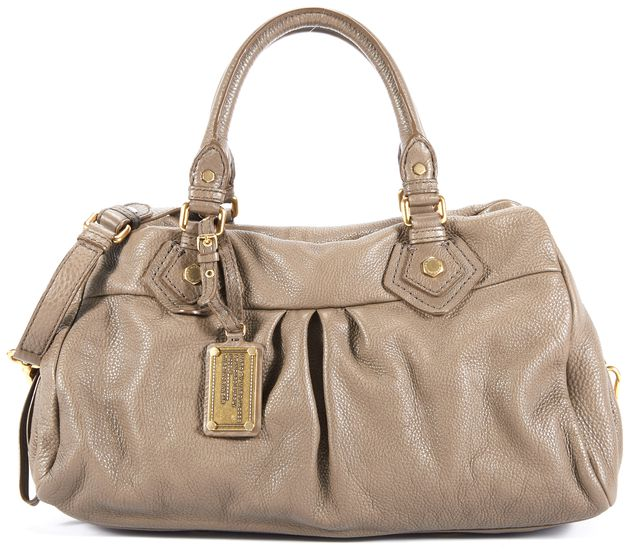 MARC BY MARC JACOBS Brown Leather Satchel Top Handle Handbag W/ Strap