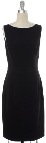 MOSCHINO COUTURE Black Gold Embroidered Sleeveless Sheath Dress