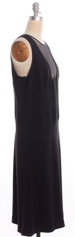 MOSCHINO Black Mesh Sheath Dress