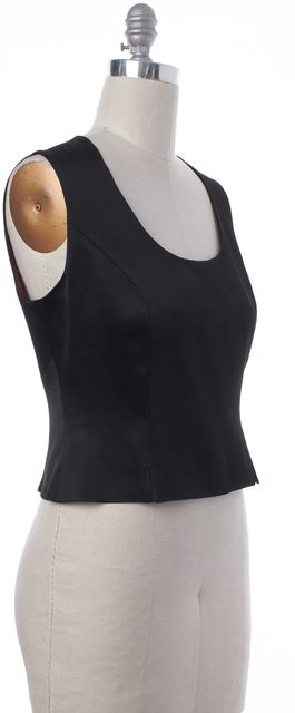 MOSCHINO Black Sleeveless Cropped Top