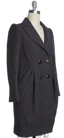 MOSCHINO Gray Wool Double Breasted Coat