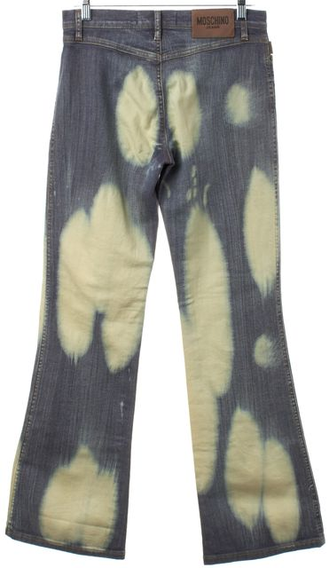 MOSCHINO Blue Bleached Flare Jeans