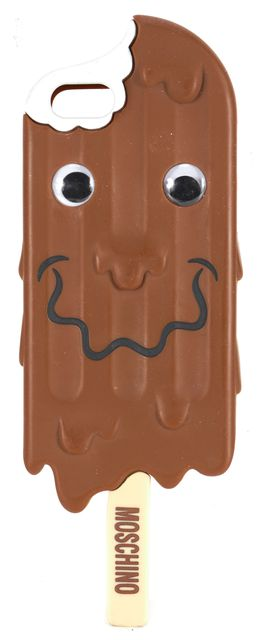MOSCHINO Chocolate Brown Melting Smiling Ice Phone Case