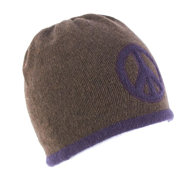MOSCHINO Brown & Purple Beanie Hat
