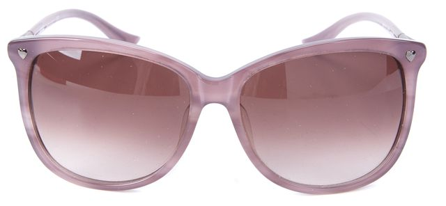 MOSCHINO Pale Purple Black Lens MO71703 Rectangular Sunglasses