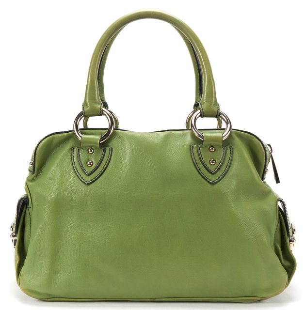 MARC JACOBS Green Leather Multi Pocket Top Handle Bag