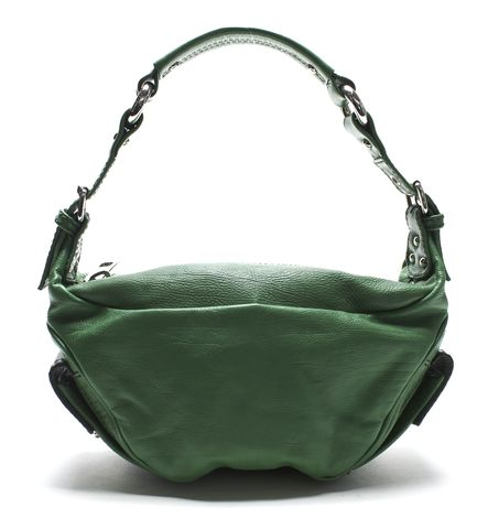 MARC JACOBS Authentic Green Small Leather Shoulder Bag