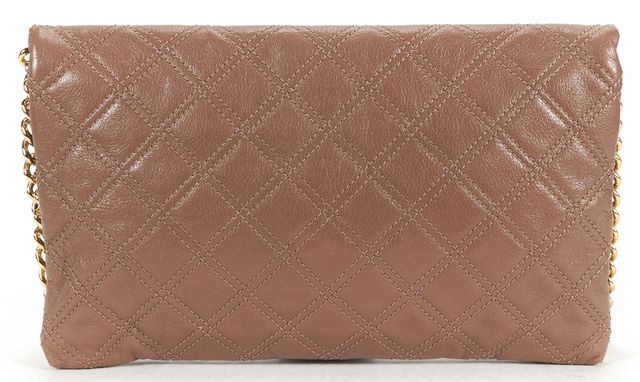 MARC JACOBS Brown Quilted Leather Gold Chain Shoulder Bag