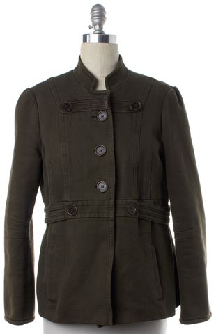 MARC JACOBS Olive Green Jacket Button Down Coat