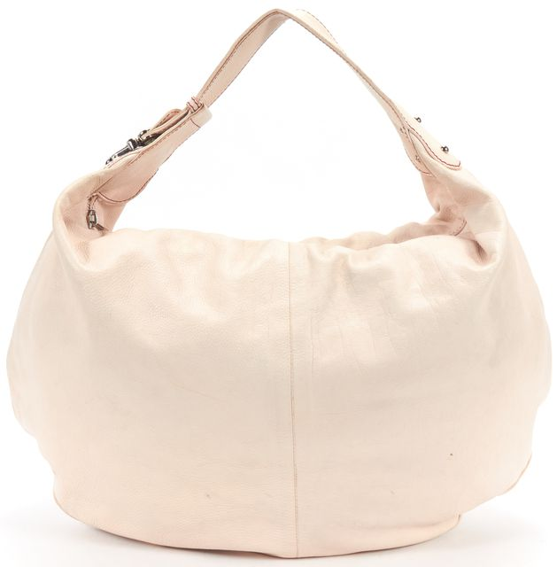MARC JACOBS Pale Pink Pebbled Leather Hobo Shoulder Bag