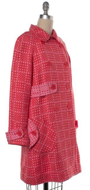 MARC JACOBS Pink Polka Dot Cotton Basic Long Coat Jacket