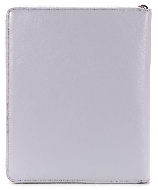 MARC JACOBS Gray Ivory Leather Ipad Zip Around Case