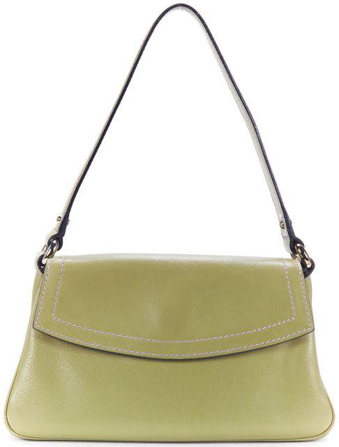 MARC JACOBS Olive Leather Single Strap Shoulder Bag