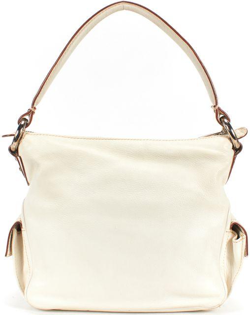 MARC JACOBS Ivory Leather Hobo Shoulder Bag