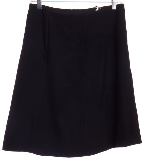 MARC JACOBS Black Wool A-Line Skirt