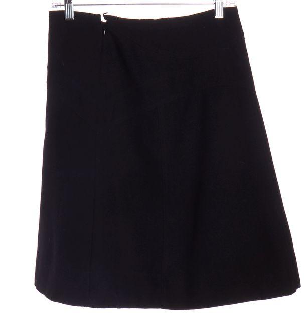 Prada Black Tweed Knit Wool A-Line Skirt | Material World