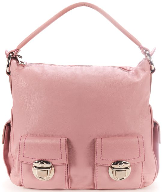 MARC JACOBS Pink Leather Silver Hardware Shoulder Bag