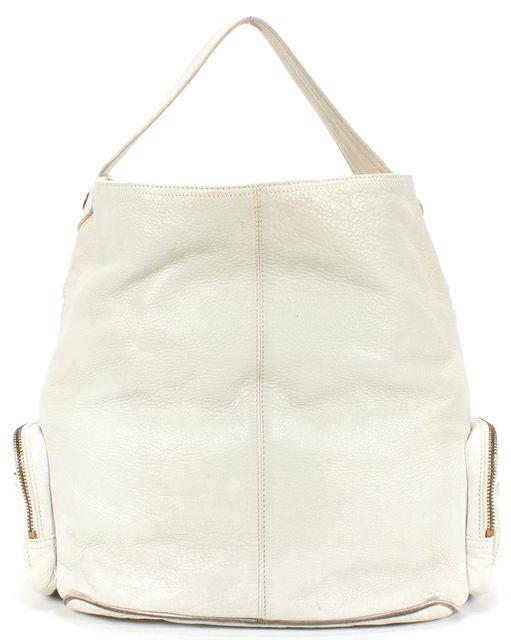 MARC JACOBS Light Gray Leather Multi Pocket Tote Handbag