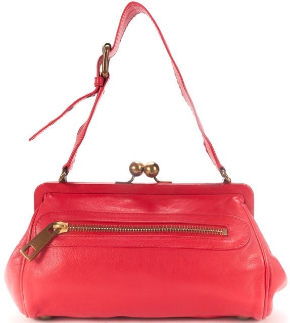 MARC JACOBS MARC JACOBSAuthentic Red Leather Shoulder Bag Handbag