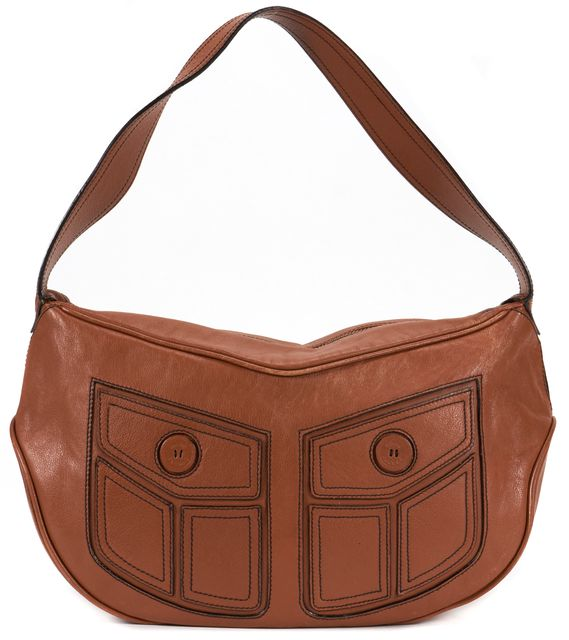 MARC JACOBS Brown Leather Casual Hobo Shoulder Bag