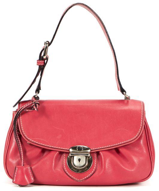 MARC JACOBS Red Leather Flap Shoulder Bag