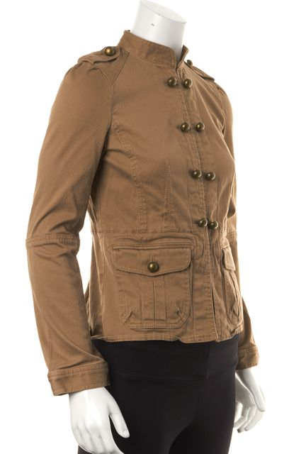 MARC JACOBS Beige Double Breasted Military Style Basic Jacket