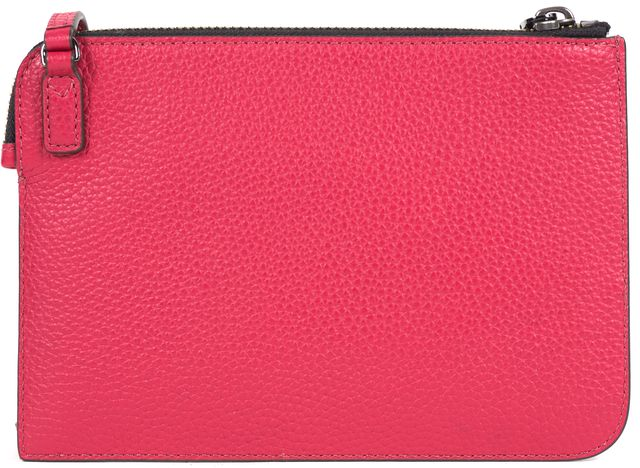 MARC JACOBS Fuchsia Pink Leather Zip Top Slim Cross-body Bag