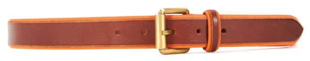 MARC JACOBS Brown Orange Skinny Leather Belt