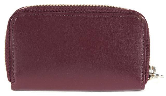 MARC JACOBS Burgundy Red Leather Card Case