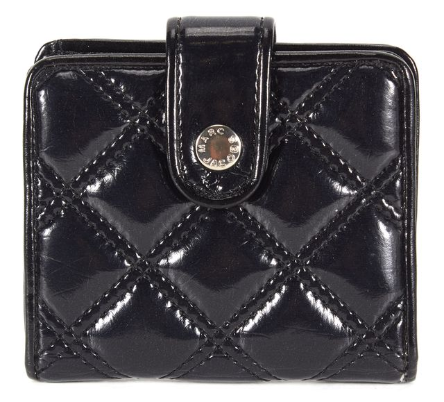 MARC JACOBS Black Quilted Vinyl Small Wallet