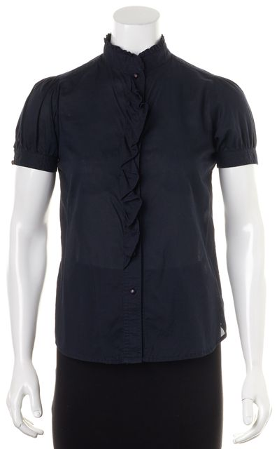 MARC JACOBS Navy Blue Button Down Shirt Top