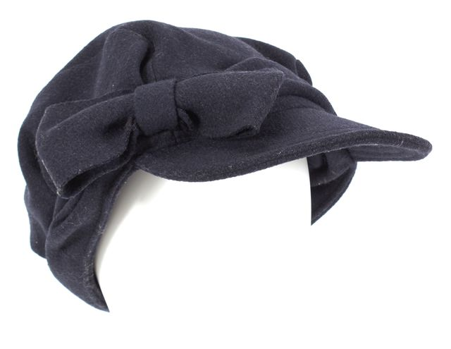 MARC BY MARC JACOBS Dark Navy Blue Wool Ribbon sboy Hat